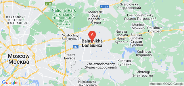map of Balashikha, Russia