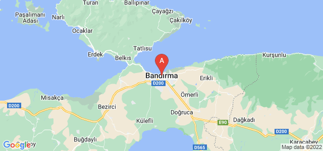 map of Bandırma, Turkey
