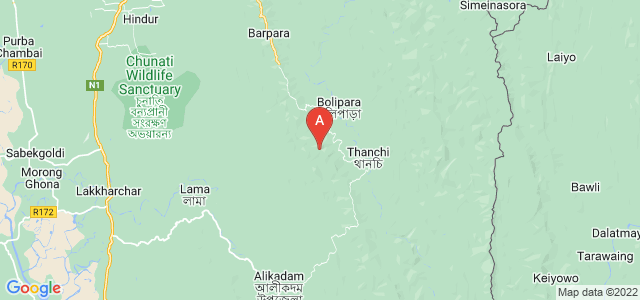 map of Bandarban, Bangladesh
