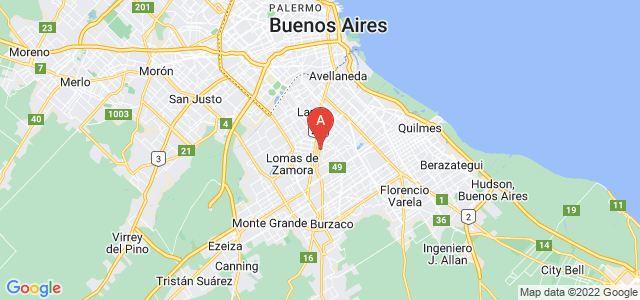 map of Banfield, Argentina