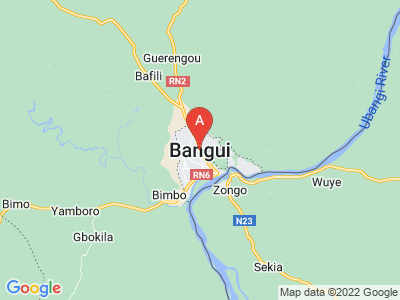 map of Bangui, Central African Republic