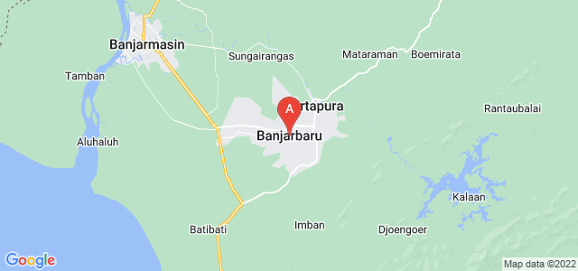 map of Banjarbaru, Indonesia