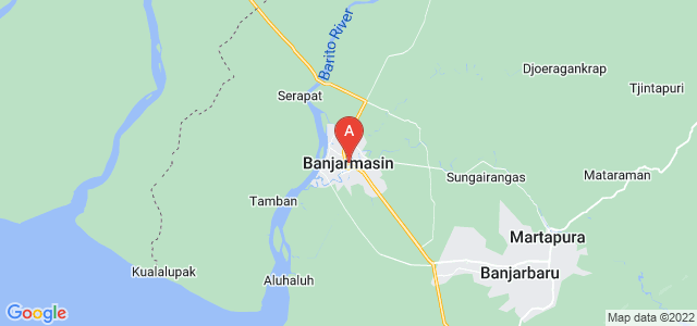 map of Banjarmasin, Indonesia