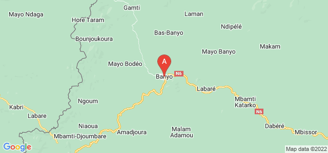 map of Banyo, Cameroon
