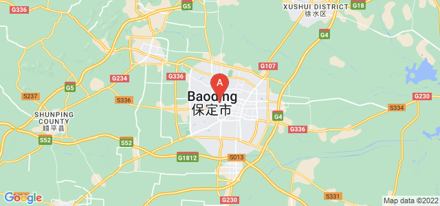map of Baoding, China