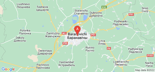map of Baranavichy, Belarus