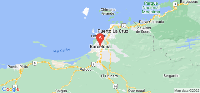 map of Barcelona, Venezuela