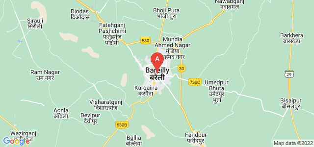 map of Bareilly, India