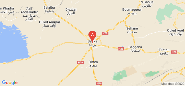 map of Barika, Algeria