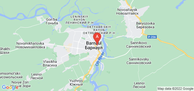 map of Barnaul, Russia