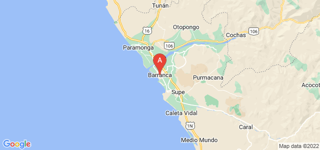 map of Barranca, Peru