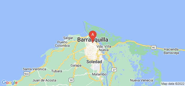 map of Barranquilla, Colombia