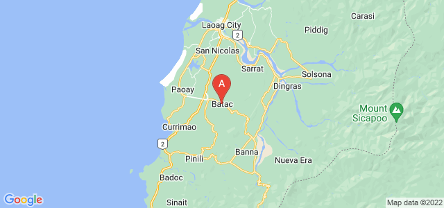 map of Batac, Philippines