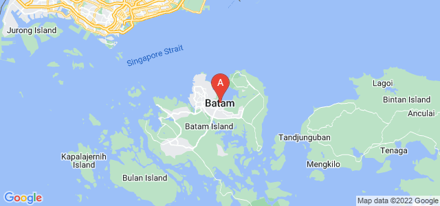 map of Batam, Indonesia