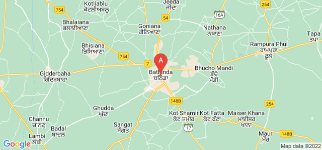 map of Bathinda, India