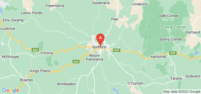 map of Bathurst, Australia