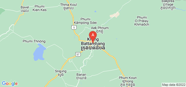 map of Battambang, Cambodia