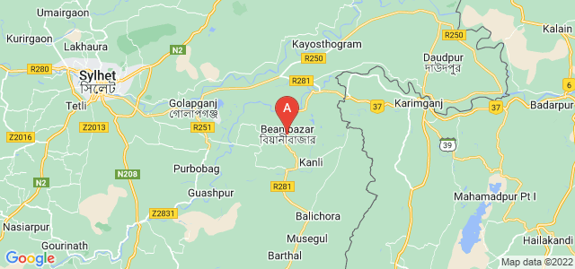 map of Beanibazar, Bangladesh