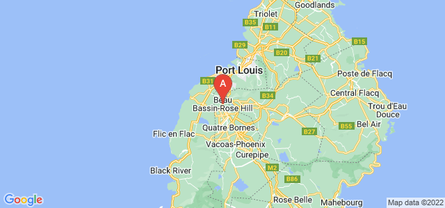 map of Beau Bassin-Rose Hill, Mauritius