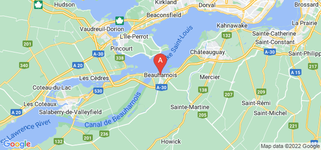 map of Beauharnois, Canada