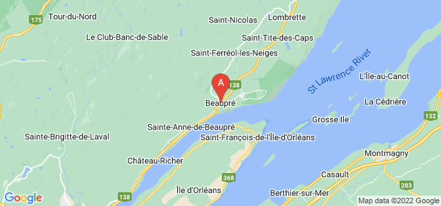 map of Beaupré, Canada