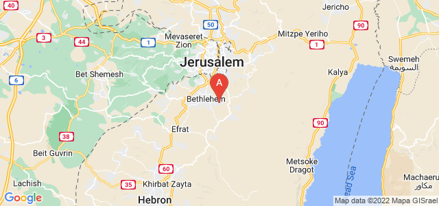 map of Beit Sahour, Palestinian territories