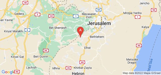 map of Beitar Illit, Israel