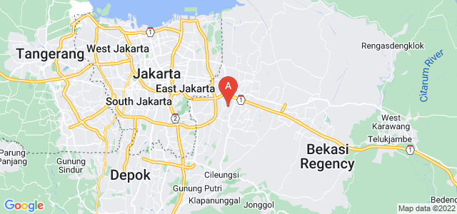 map of Bekasi, Indonesia