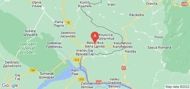 map of Bela Crkva, Serbia