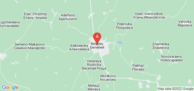 map of Belebey, Russia