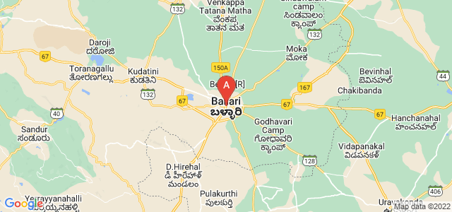 map of Bellary, India