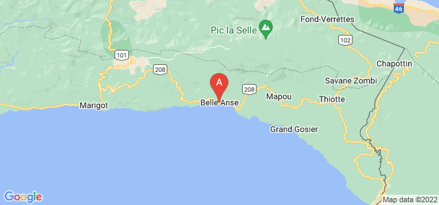 map of Belle-Anse, Haiti