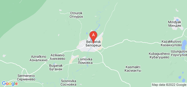 map of Beloretsk, Russia