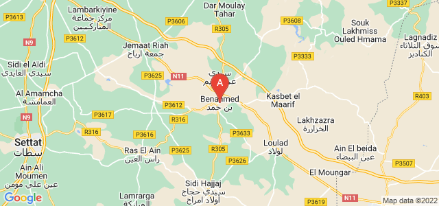 map of Ben Ahmed, Morocco