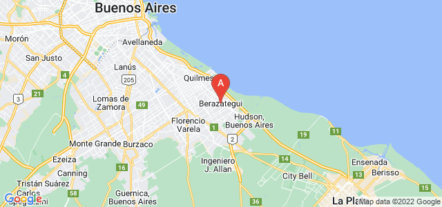 map of Berazategui, Argentina