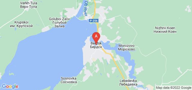 map of Berdsk, Russia