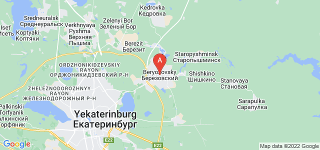 map of Beryozovsky, Russia
