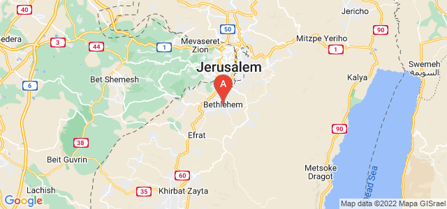 map of Bethlehem, Palestinian territories