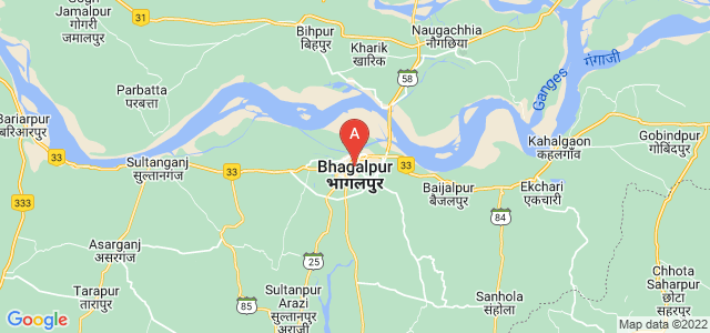 map of Bhagalpur, India