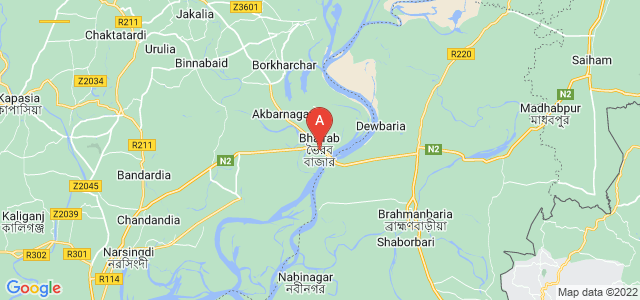 map of Bhairab Upazila, Bangladesh