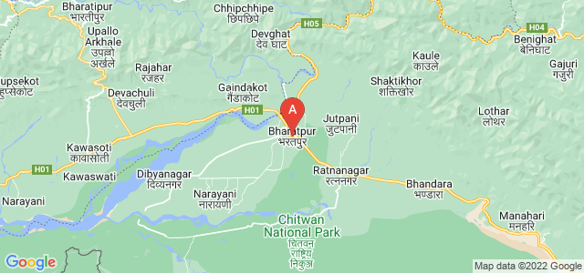 map of Bharatpur, Nepal