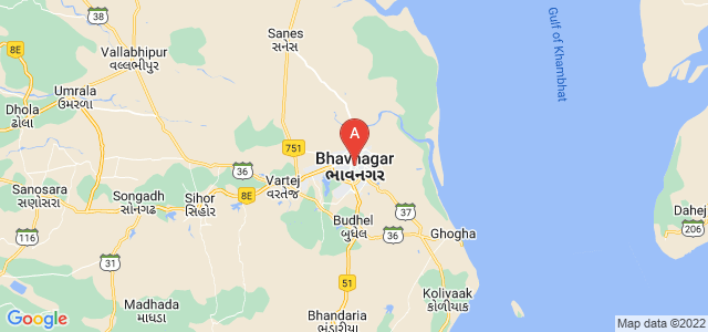 map of Bhavnagar, India