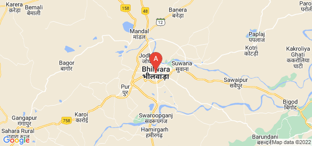 map of Bhilwara, India