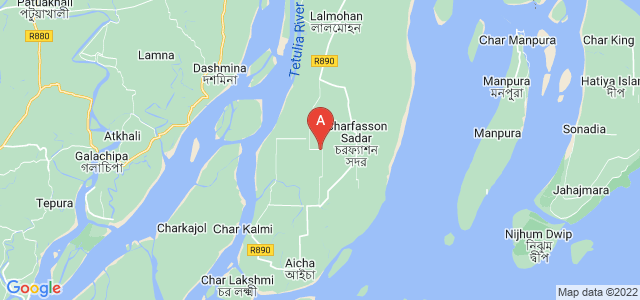 map of Bhola, Bangladesh