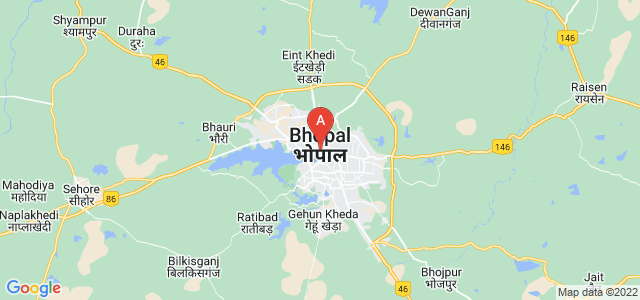 map of Bhopal, India