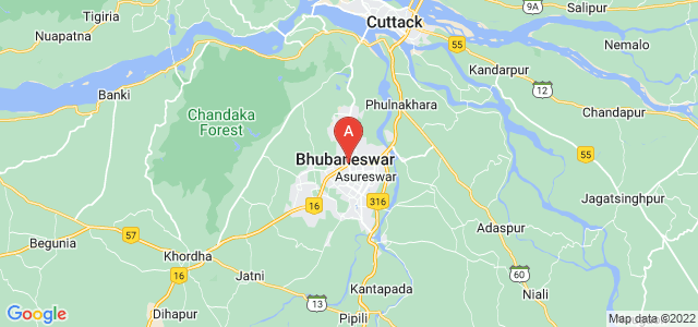 map of Bhubaneswar, India