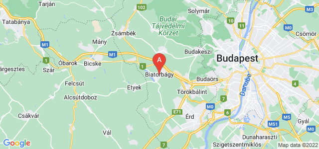 map of Biatorbágy, Hungary