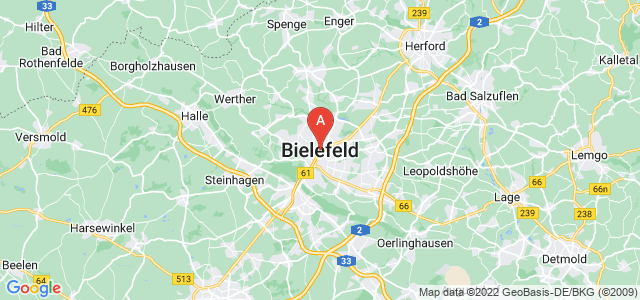 map of Bielefeld, Germany