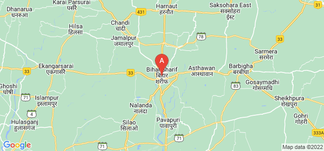 map of Bihar Sharif, India