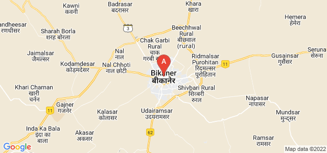 map of Bikaner, India